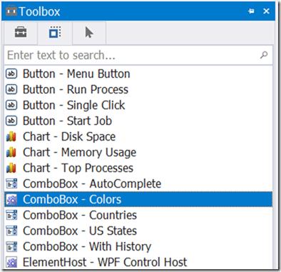 ComboBox - Colors control set
