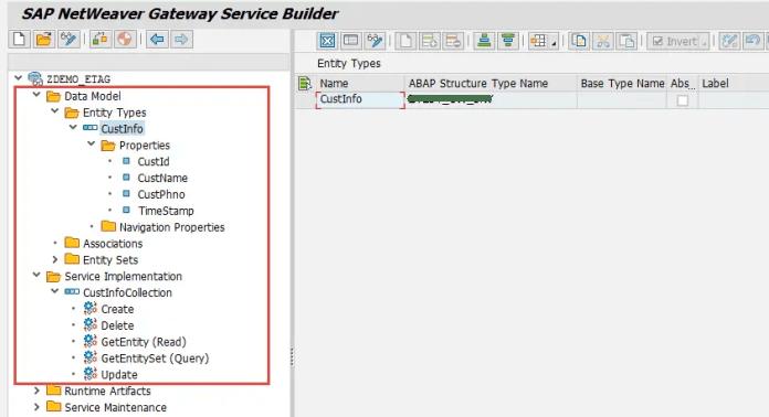 SEGW - Service Builder