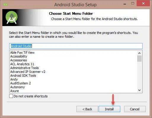 Android Studio Installation Step-5