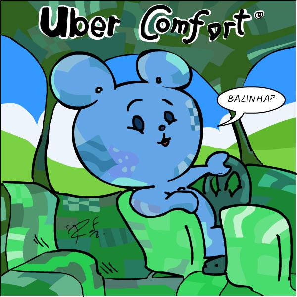Uber confort, COMFORT, urso, Sapo Brothers, diversão, tiras, humor, games, jogos, animação, anima, quadrinhos, infantil, minja, jones
