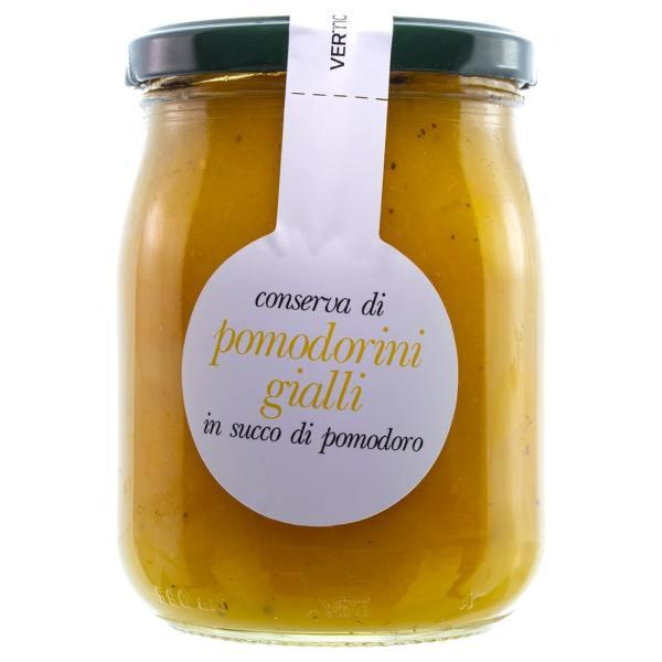 Conserva di Pomodorini Gialli in Salsa di Pomodoro Verticelli 500g