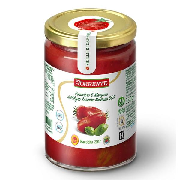 Pomodori Pelati San Marzano DOP con Basilico La Torrente 330g