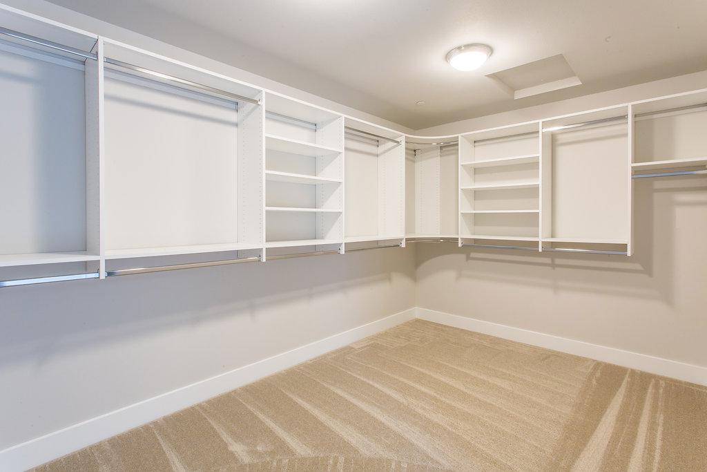 Master closet with shelving