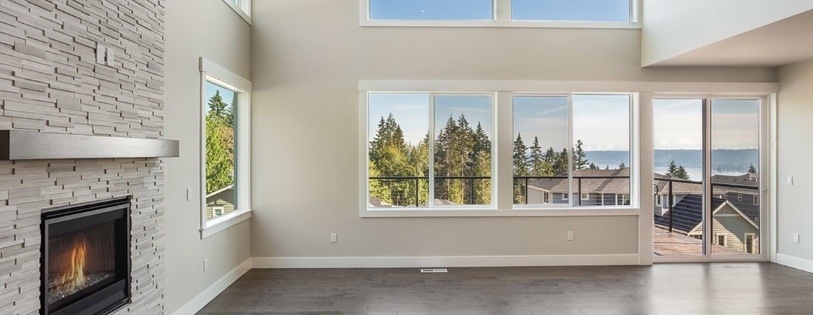 Double Story Windows in Open Great Room