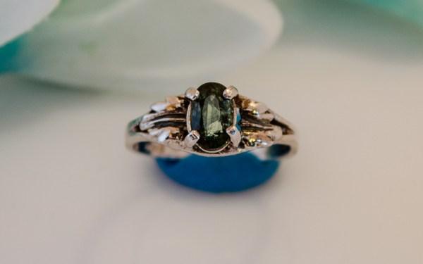 Oval green MT Sapphire