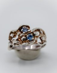 Sterling Silver Ring MT sapphire