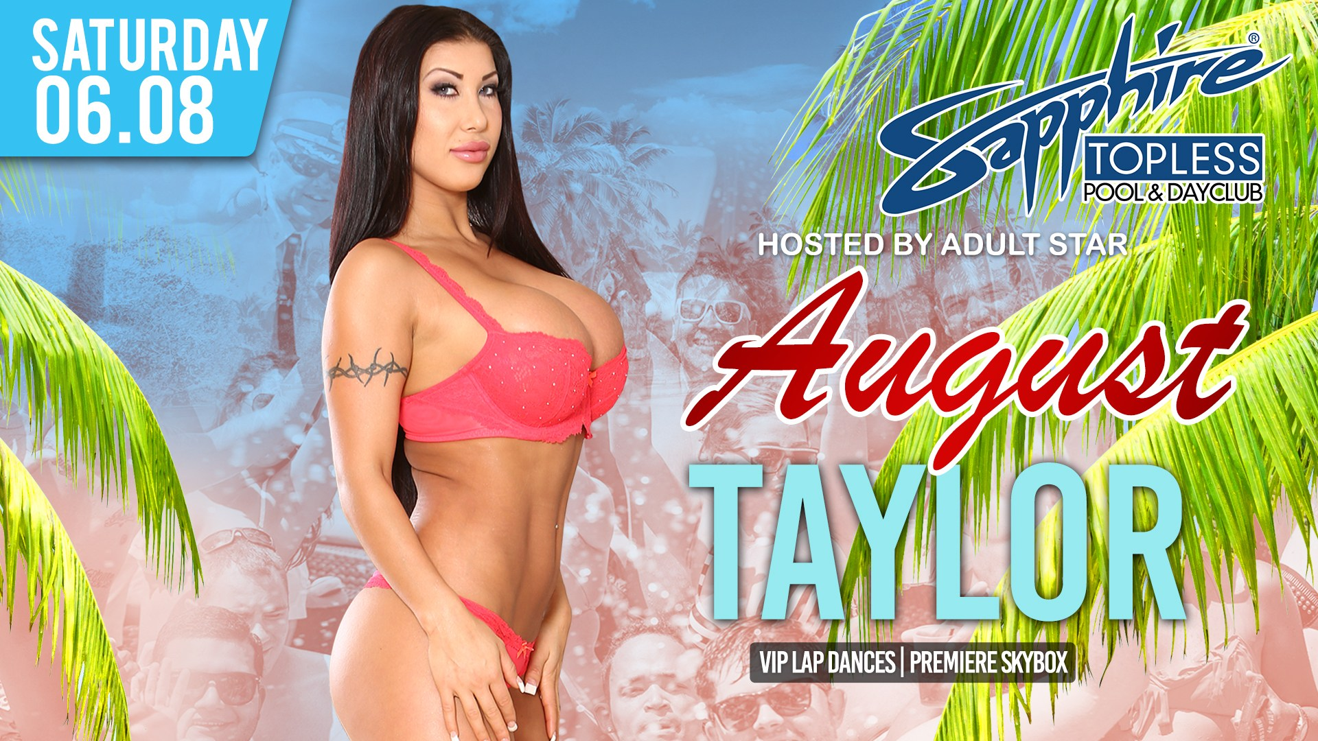 August Taylor Pics august taylor hosts sapphire topless dayclub saturday, june