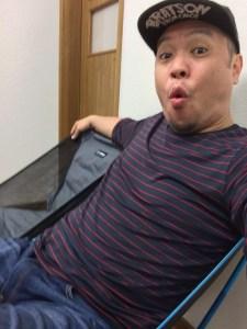172cm78kgの私でも座れるヘリノックスチェアワン