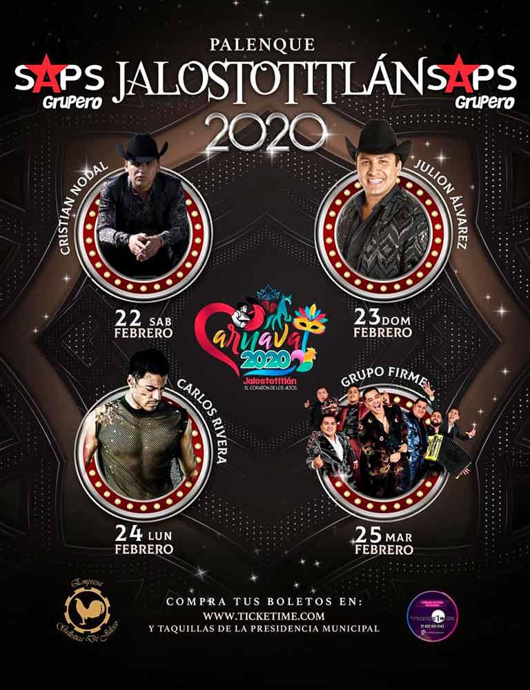Carnaval de Jalostotitlán 2020 - Cartelera Oficial