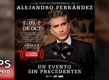 """Alejandro Fernández ofrecerá concierto especial """"América A Una Sola Voz"""""""
