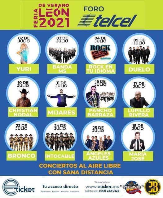 Cartelera Oficial Feria de León 2021