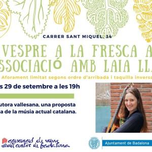 Laia Llach concert als Vespres a la Fresca