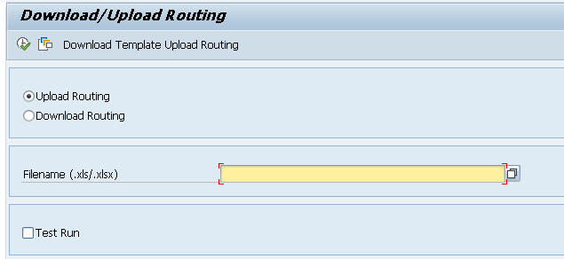 upload sap routing abap