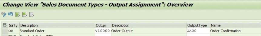 Maintain Output Determination Procedure