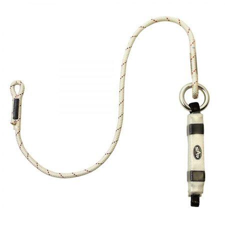Single Shock Absorbing Rope Lanyard