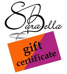 SaraBella Gift Certificates
