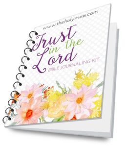 Trust in the Lord Bible Journaling Kit