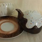 Teiera con tazza Bignè 1