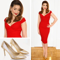 Retro Glamour Little Red Dress Outfit