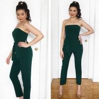 Hunter Green Jumpsuit + Jasmine Vibes