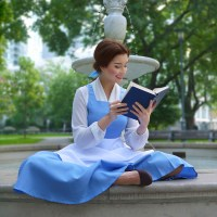 Belle Blue Village Dress Costume - Animated