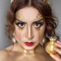 QUEEN MIDAS • Gold Makeup Look