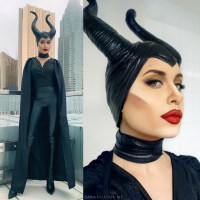 Maleficent Cosplay Makeup + Costume