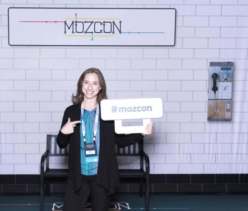 Sara Feldman at MozCon 2017
