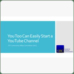 Webinar: Start a YouTube Channel