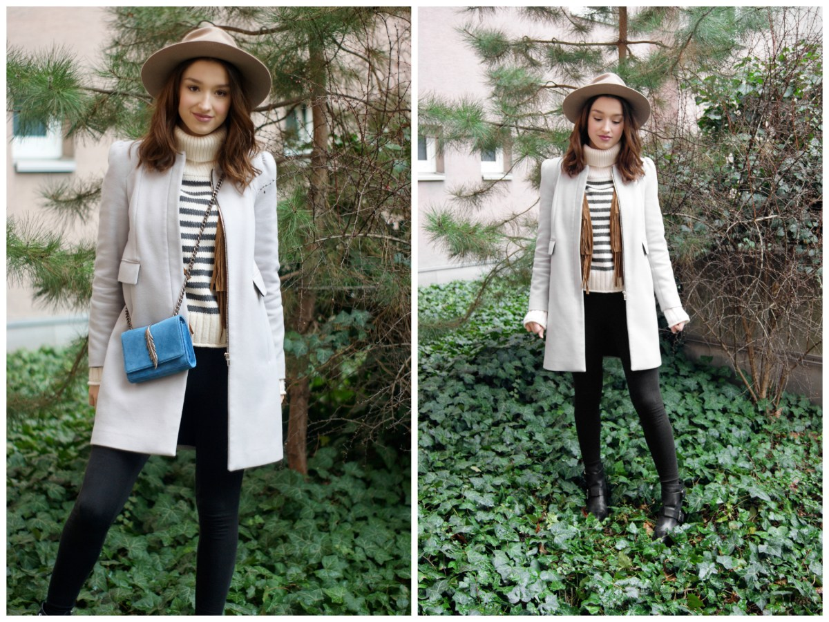 This is a picture of the viennese fashion blogger sarafi. wearing an fashionable outfit with items from zara and mango.