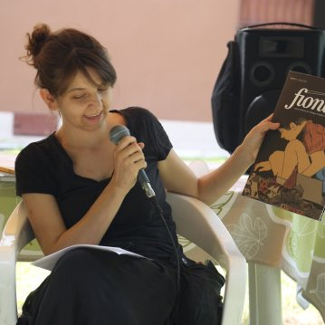 Federica Rocchi during the presentation of FIONDA during Periferico Festival 2018