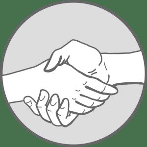 Hände Schütteln Icon Logoprozess