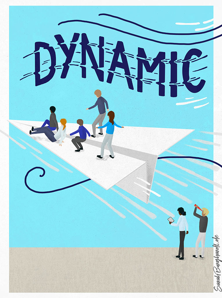 Dynamic Illustration und Lettering