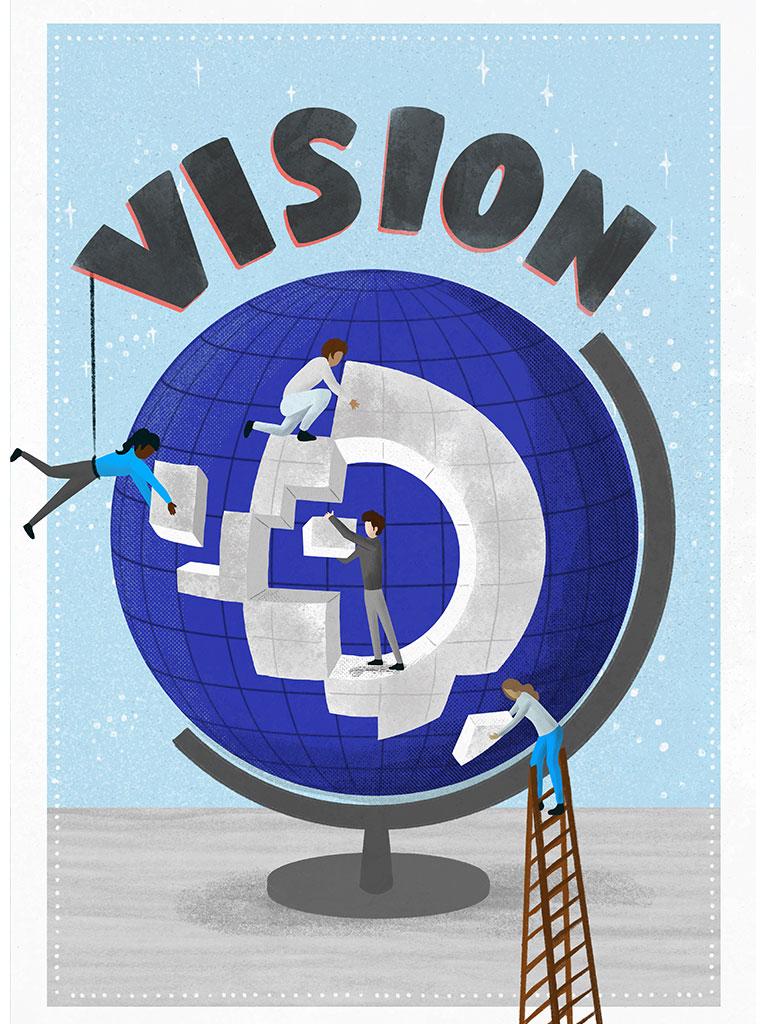 Illustration Lettering Business Vision