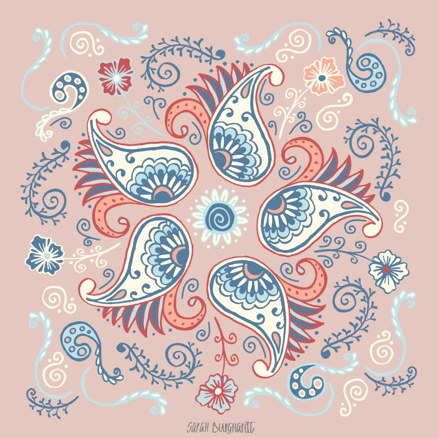 Paisley Pattern by Sarah Burghardt