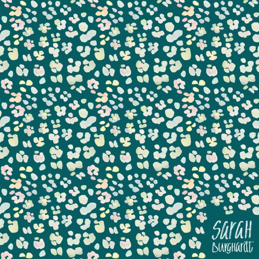 Seamless Pattern moody jungle by Sarah Burghardt
