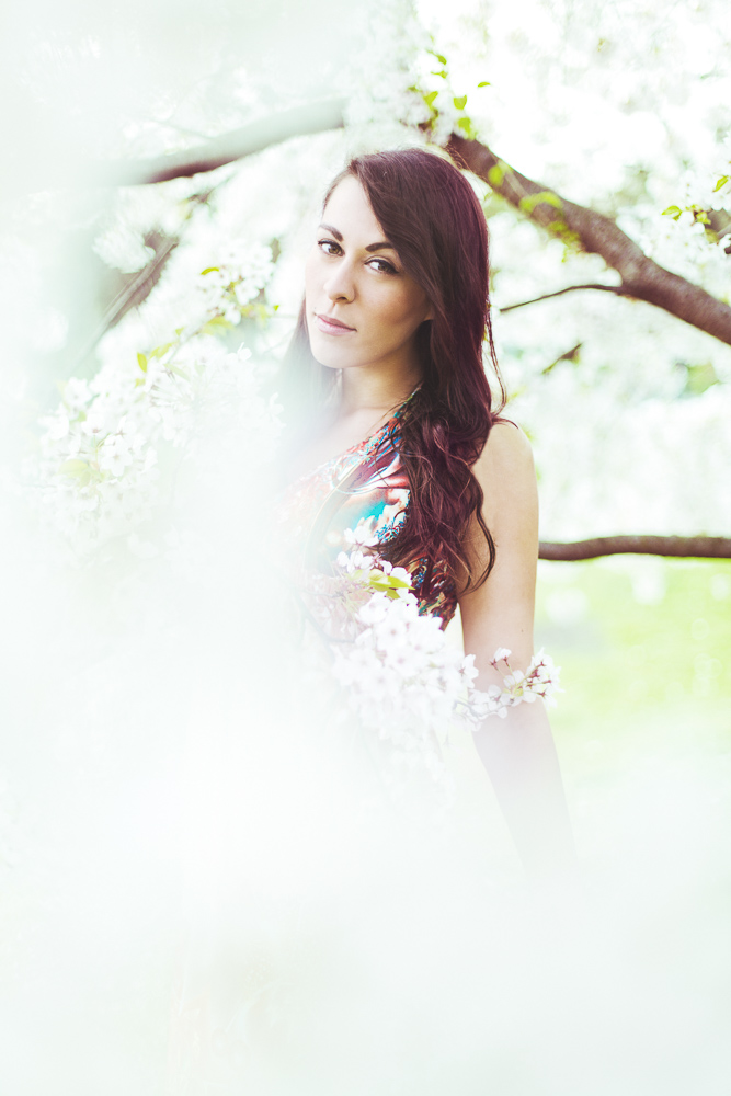 Portrait Beauty outdoor blumen