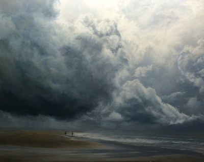 Under the Clouds, Holkham (100 x 130 cm)