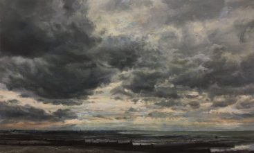 Dark Day 2. oil on panel (39 x 50 cms)