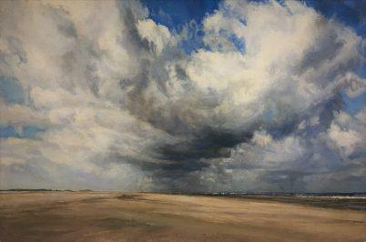 Holkham. Oil on panel. 35 x 43 cms