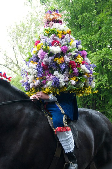 The King, Castleton Garland Day, Derbshire, 2010