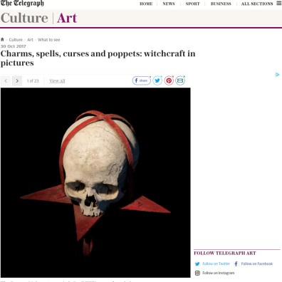 Charms, spells, curses and poppets: witchcraft in pictures, The Telegraph 30.10.17