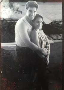 Photo of Burton Richardson and Sarah Badat Richardson on the day they met