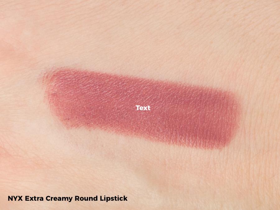 NYX Extra Creamy Round Lipstick Swatch - Lala