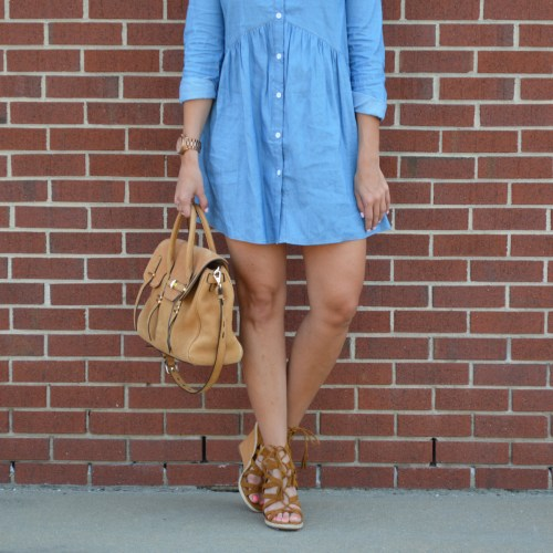 Spring Chambray Shirtdress