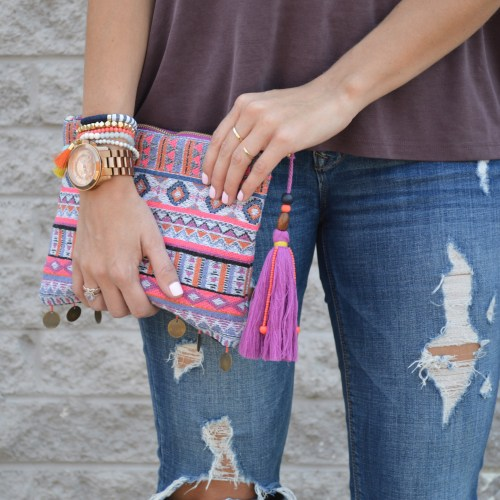patterned clutch