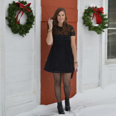 Perfect Lace LBD for Winter