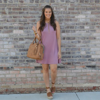 Pink Swing Dress with Pockets