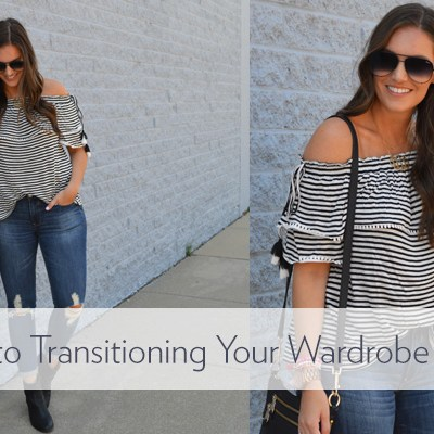 Cute Striped OTS Top + 3 Tips for Transitioning Your Wardrobe for Fall