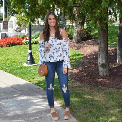 The Floral Cold-Shoulder Top to Wear all Season
